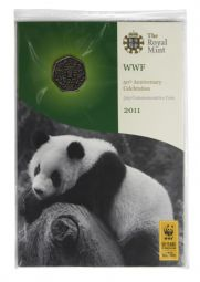 2011 50p WWF Brilliant Uncirculated Pack for sale